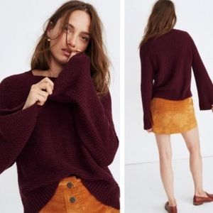 Madewell Bell Sleeve Knit Sweater